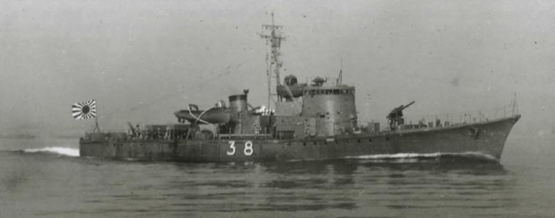 駆潜艇49号と同型の38号=福井静夫著「写真日本海軍全艦艇史」ベストセラーズ1994年12月刊