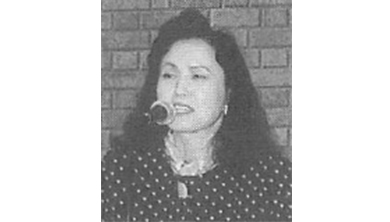田中優子氏=1995年10月21日、広島県呉市文化ホールで